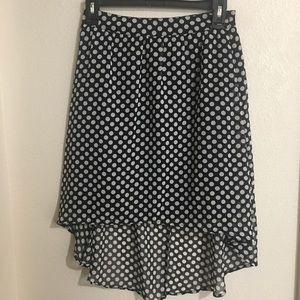 Chiffon polka dot skirt